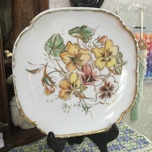 VTG 1889 Hand Painted Porcelain Decorative Plate